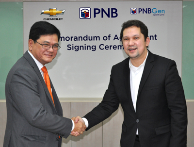 PNB Partners with Chevrolet Philippines