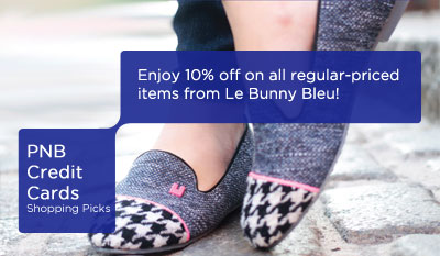 Great Deals at LeBunny Bleu Shoes with PNB Credit Cards