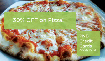 Use Your PNB MasterCard at Pasta King Café di Roma and Get 30% Off on Pizza